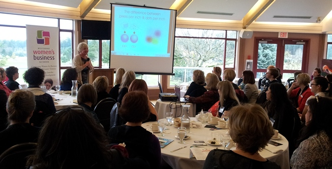 Patricia Wade Speaks about Graphic Design for Small Business at the Westshore Women's Business Network